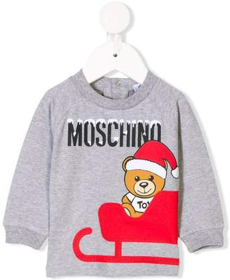 Moschino Kids christmas teddy bear sweatshirt