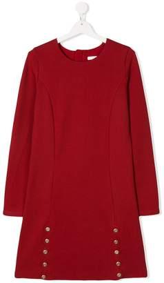 Chloé Kids TEEN scallop trim jersey dress