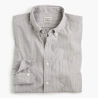 J.Crew Untucked stretch Secret Wash shirt in gingham poplin