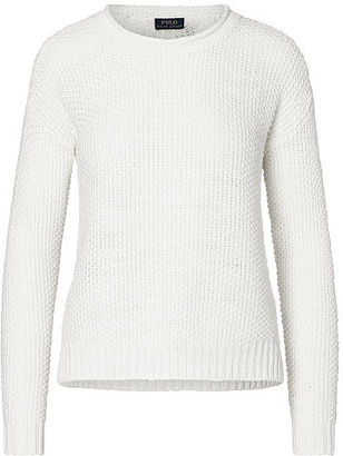 Polo Ralph Lauren Boxy Cotton-and-Linen Sweater $198 thestylecure.com