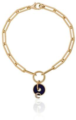 Foundrae blue and yellow gold karma diamond bracelet