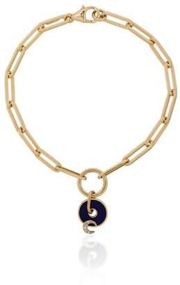 Foundrae blue and yellow gold karma diamond bracelet