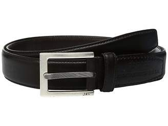 John Varvatos Leather Dress Belt with Rectangular Buckle Men's Belts