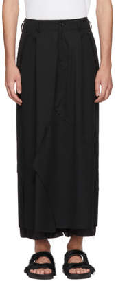Sulvam Black Layered Skirt
