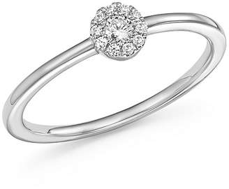 Bloomingdale's Diamond Cluster Stacking Band Ring in 14K White Gold, .10 ct. t.w. - 100% Exclusive