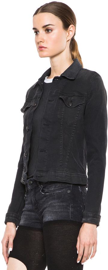 R 13 Denim Jacket in Bleeker Black