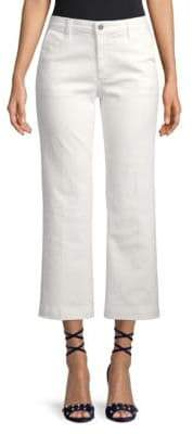 AG Jeans Layla High-Waist Flared Cropped Trousers
