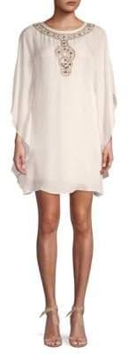 Trina Turk Cape-Sleeve Shift Dress