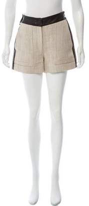 Belstaff Leather-Accented Mid-Rise Shorts