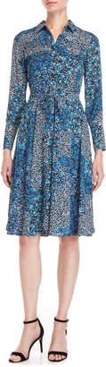 Nanette Lepore Nanette Floral Tie-Waist Shirtdress