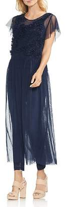 Vince Camuto Sheer Tulle Ruffle Maxi Tunic