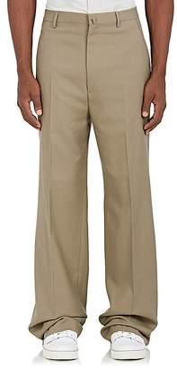 Lanvin Men's Wool Twill Wide-Leg Trousers