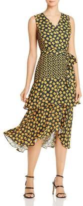Sam Edelman Poppy-Print Tiered Midi Dress
