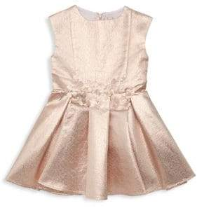 Halabaloo Little Girl's Embellished Metallic Flare Dress