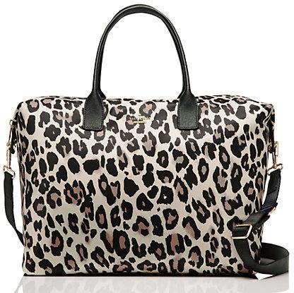 Kate SpadeClassic nylon leopard lyla weekender