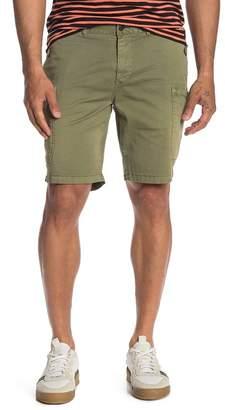 Scotch & Soda Solid Stretch Twill Cargo Shorts