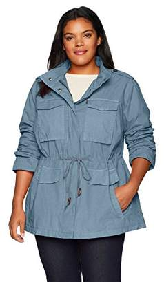 Levi's Size Women's Plus Parachute Cotton Military Jacket