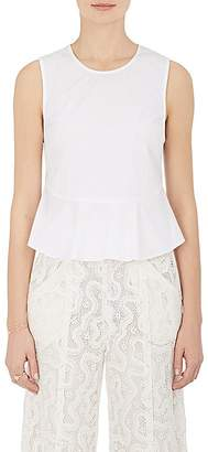 A.L.C. Women's Casara Cotton Poplin Peplum Top