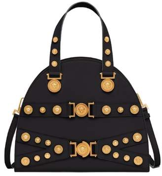 Versace Tribute Studded Leather Satchel