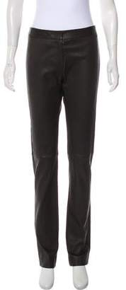 Derek Lam Leather Mid-Rise Pants w/ Tags