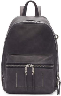 Rick Owens Grey Small Lambskin Backpack