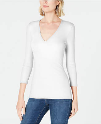 INC International Concepts I.n.c. Petite V-Neck Top, Created for Macy's