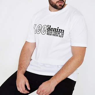 River Island Mens Lee Big and Tall white T-shirt