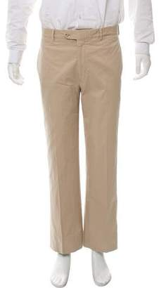 Hermes Cropped Flat Front Casual Pants
