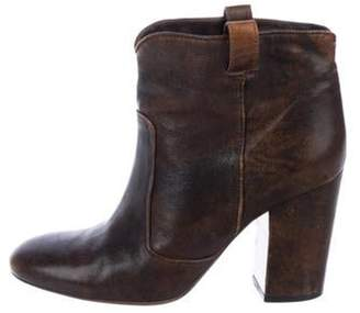 Laurence Dacade Distressed Leather Boots Brown Distressed Leather Boots