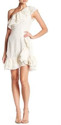 Love Sam Island Eyelet Lace Mini Dress