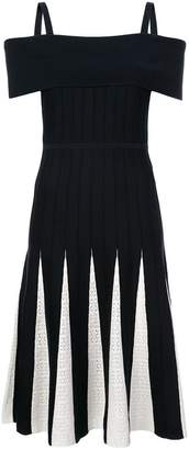 Kimora Lee Simmons off-shoulder knit dress