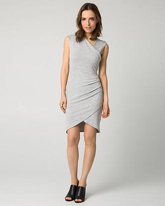 Le Château Cut & Sew Faux Wrap Dress