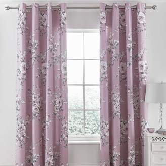 Canterbury of New Zealand Catherine Lansfield Heather Pair of Eyelet Lined Curtains