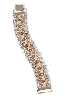 RED Valentino Gold-Tone Crystal Bracelet