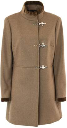 Fay Virginia Coat In Camel-tone Cashmere Wool Mix.