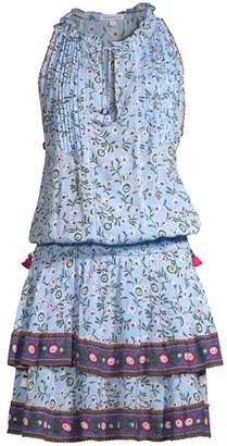 Poupette St Barth Amora Ruffle Hem Mini Dress
