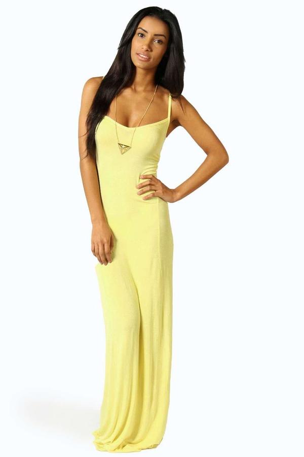 boohoo Lucy Strappy Cross Over Back Maxi Dress
