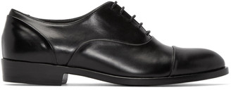 Robert Clergerie Black Leather Pier Oxfords $650 thestylecure.com