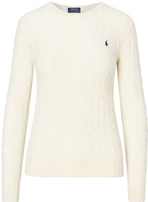 Polo Ralph Lauren Cable Knit Crewneck Sweater $98.50 thestylecure.com