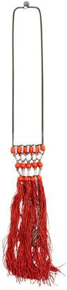 Matthew Williamson Orange Metal Long Necklace
