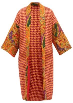 Rianna + Nina - Reversible Matelasse Wool And Silk Coat - Womens - Multi