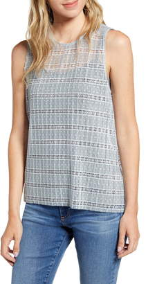 Chelsea28 Pleated Lace Tank