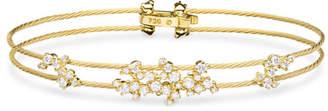 Paul Morelli Diamond Confetti Double Wire Bracelet, Yellow Gold