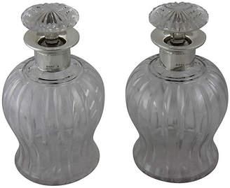 One Kings Lane Vintage 1925 English Glass Decanters - Set of 2