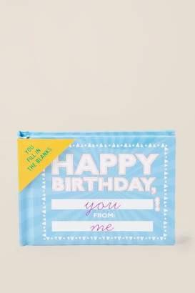 Knock Knock Happy Birthday Book - Blue