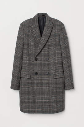 H&M Double-breasted Coat - Black
