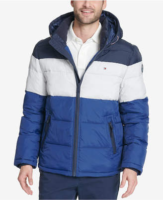 Tommy Hilfiger Men Big & Tall Quilted Hooded Puffer Jacket