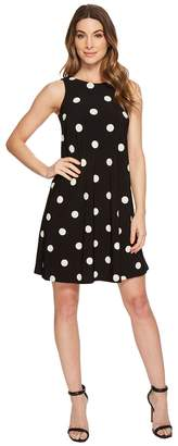 Lauren Ralph Lauren Suzan Peninsula Dot Matte Jersey Dress Women's Dress