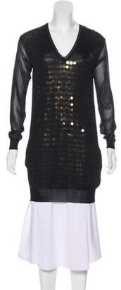 Stella McCartney V-Neck Sequin Knit Sweater