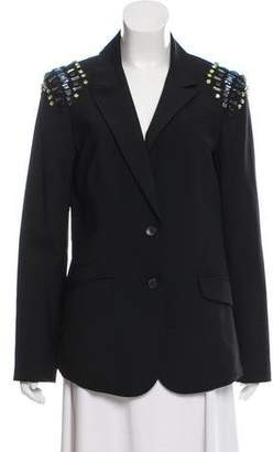 Elizabeth and James Embellished Structured Blazer